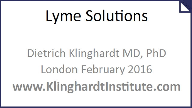 Presentations From The Lyme Solutions Seminar - February